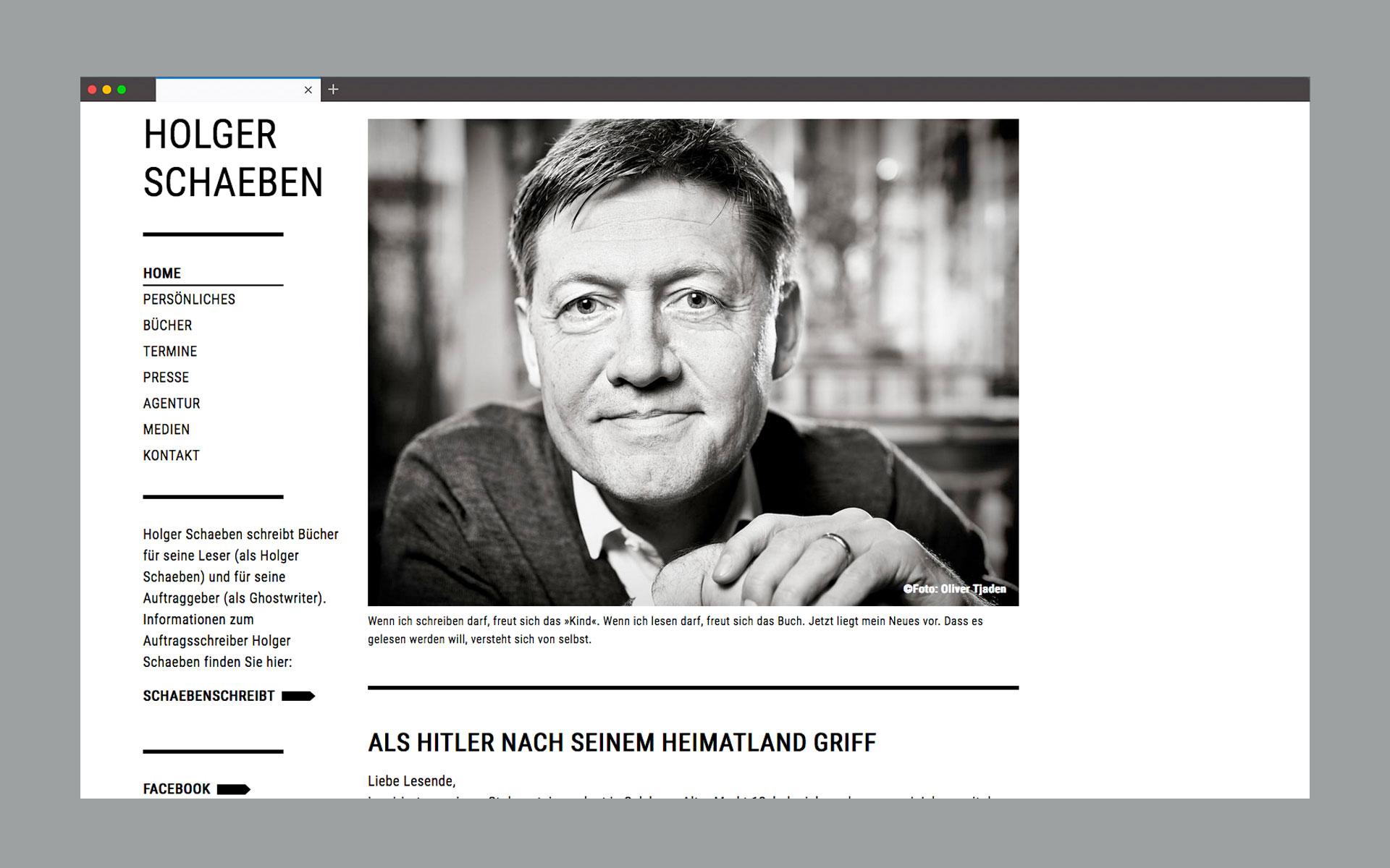 SEITENWEISE BÜCHER: WEBSITE FÜR EINEN AUTOR.