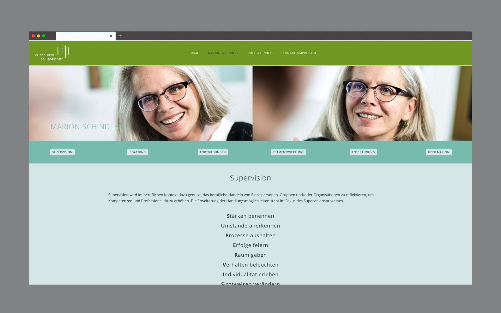 Erlebniswelt Seillandschaft Website